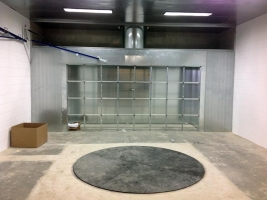 Built-in spray booth constructed by AISECO