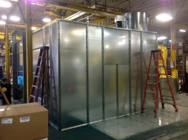 spray booth installed by AISEO
