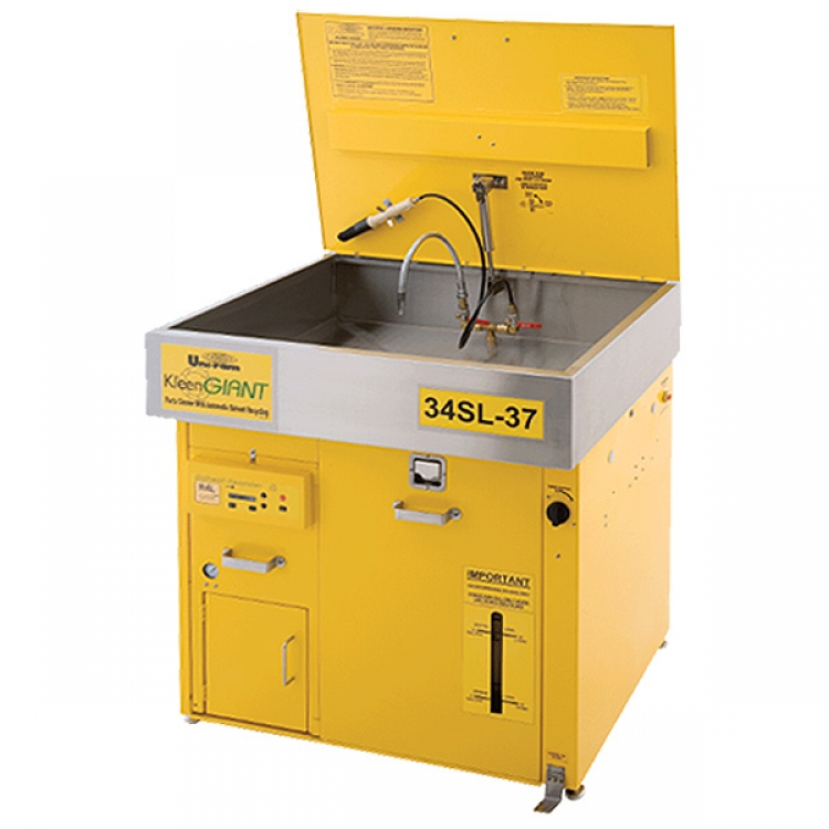parts cleaner with automatic solvent recycler