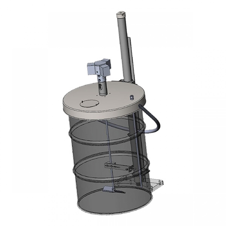 fifty five gallon direct drive agitator with lid