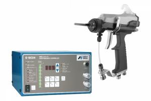 electrostatic spray gun and controller